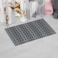 Grey Bath Shower Mat Non Slip PVC Bathroom Rubber Mats Anti Slip 40 x 63 cm