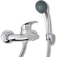 Zqyrlar - Bath Shower Mixer Tap Kit Chrome - Silver