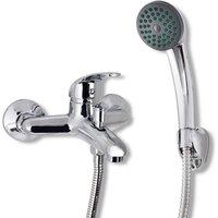 Bath Shower Mixer Tap Kit Chrome - Silver - Vidaxl