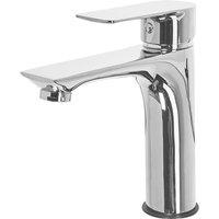 Beliani - Bathroom Basin Tap Mixer Silver Brass Single Lever Berloi