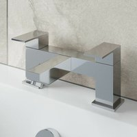 Bathroom Bath Filler Mixer Tap Square Brass Deck Mounted Chrome Lever Modern
