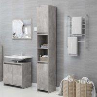 Bathroom Cabinet Concrete Grey 30x30x183.5 cm Chipboard - Grey