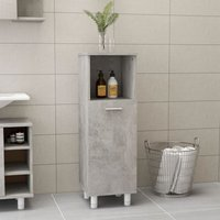 Bathroom Cabinet Concrete Grey 30x30x95 cm Chipboard - YOUTHUP