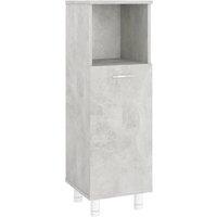 vidaXL Bathroom Cabinet Concrete Grey 30x30x95 cm Chipboard - Grey