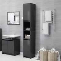 Bathroom Cabinet Grey 30x30x183.5 cm Chipboard - Grey