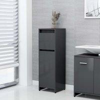Bathroom Cabinet Grey 30x30x95 cm Chipboard