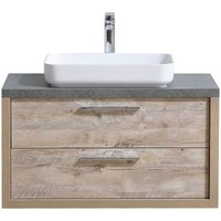 Badplaats - Bathroom furniture set Indiana 90 cm basin nature wood - Storage cabinet vanity unit sink furniture