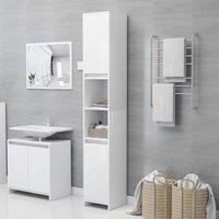 Bathroom Cabinet White 30x30x183.5 cm Chipboard - White