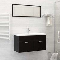 Betterlifegb - Bathroom Furniture Set Black Chipboard21766-Serial number