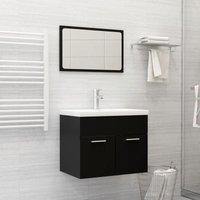 Betterlifegb - Bathroom Furniture Set Black Chipboard22148-Serial number