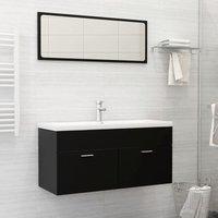 Betterlifegb - Bathroom Furniture Set Black Chipboard22172-Serial number
