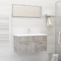 Betterlifegb - Bathroom Furniture Set Concrete Grey Chipboard21769-Serial number