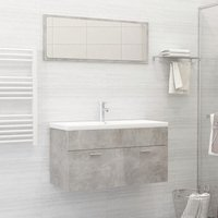 Betterlifegb - Bathroom Furniture Set Concrete Grey Chipboard22167-Serial number