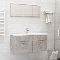 Betterlifegb - Bathroom Furniture Set Concrete Grey Chipboard22175-Serial number