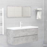 Bathroom Furniture Set Concrete Grey Chipboard22486-Serial number