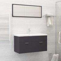Betterlifegb - Bathroom Furniture Set Grey Chipboard21767-Serial number