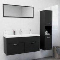 Betterlifegb - Bathroom Furniture Set Grey Chipboard22015-Serial number