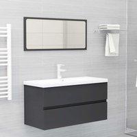 Bathroom Furniture Set Grey Chipboard22476-Serial number
