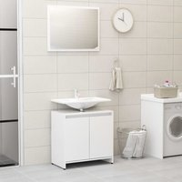 Youthup - Bathroom Furniture Set High Gloss White Chipboard