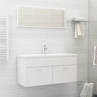 Bathroom Furniture Set High Gloss White Chipboard21779-Serial number