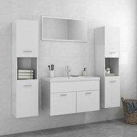 Betterlifegb - Bathroom Furniture Set High Gloss White Chipboard22083-Serial number