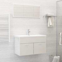 Betterlifegb - Bathroom Furniture Set High Gloss White Chipboard22161-Serial number