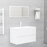 Bathroom Furniture Set High Gloss White Chipboard22390-Serial number