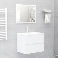 Betterlifegb - Bathroom Furniture Set High Gloss White Chipboard22464-Serial number