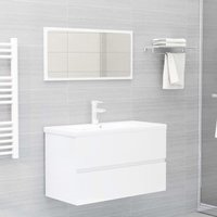 Betterlifegb - Bathroom Furniture Set High Gloss White Chipboard22472-Serial number
