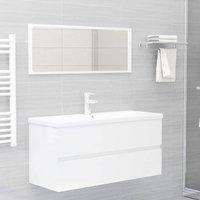 Betterlifegb - Bathroom Furniture Set High Gloss White Chipboard22488-Serial number