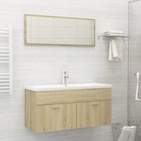 Bathroom Furniture Set Sonoma Oak Chipboard21776-Serial number
