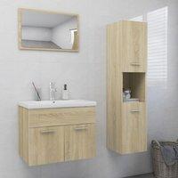 Betterlifegb - Bathroom Furniture Set Sonoma Oak Chipboard21992-Serial number