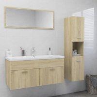 Betterlifegb - Bathroom Furniture Set Sonoma Oak Chipboard22016-Serial number