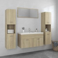 Betterlifegb - Bathroom Furniture Set Sonoma Oak Chipboard22088-Serial number