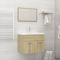 Betterlifegb - Bathroom Furniture Set Sonoma Oak Chipboard22150-Serial number