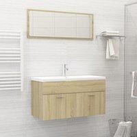 Bathroom Furniture Set Sonoma Oak Chipboard22166-Serial number