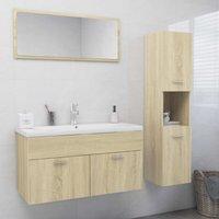Betterlifegb - Bathroom Furniture Set Sonoma Oak Chipboard22237-Serial number