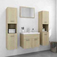 Betterlifegb - Bathroom Furniture Set Sonoma Oak Chipboard22297-Serial number