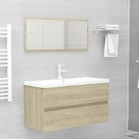 Bathroom Furniture Set Sonoma Oak Chipboard22395-Serial number