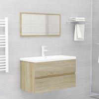 Bathroom Furniture Set Sonoma Oak Chipboard22469-Serial number