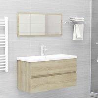 Betterlifegb - Bathroom Furniture Set Sonoma Oak Chipboard22477-Serial number