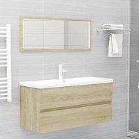 Betterlifegb - Bathroom Furniture Set Sonoma Oak Chipboard22485-Serial number