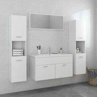Betterlifegb - Bathroom Furniture Set White Chipboard22085-Serial number