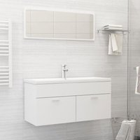 Betterlifegb - Bathroom Furniture Set White Chipboard22171-Serial number