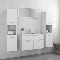 Betterlifegb - Bathroom Furniture Set White Chipboard22302-Serial number
