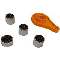 Invena - Bathroom Kitchen Faucet Tap Set Kit Aerators 1xM24mm + 3xF22m + Opening Tool