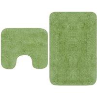 Bathroom Mat Set 2 Pieces Fabric Green1035-Serial number