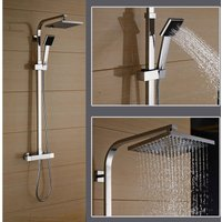 Bathroom Shower Set Thermostatic 38ºC Mixer Shower Mixer Shower System with 8