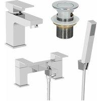 Architeckt - Bathroom Square Mono Basin Mixer Tap Bath Shower Filler Tap Set