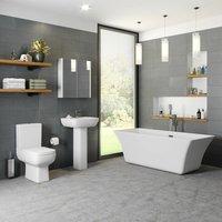 Bathroom Suite Toilet Basin Sink Pedestal Freestanding 1700 Bath